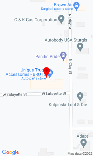 Google Map of Unique Truck Accessories 1000 N Clay Street, Sturgis, MI, 49091