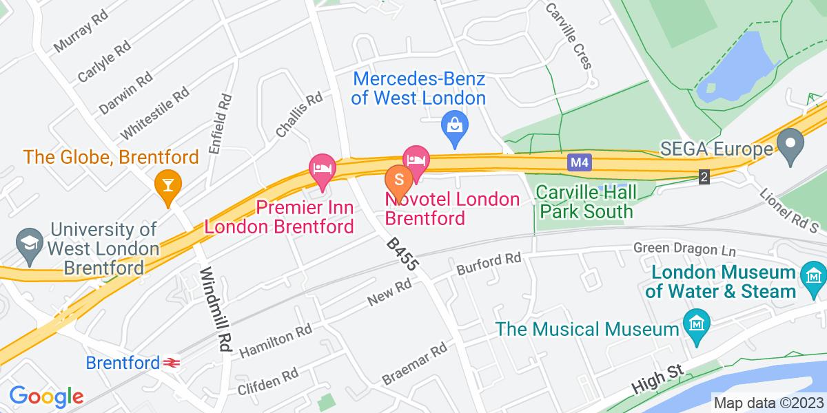 Google Map of Unit 1 Burgoyne HouseEaling Road Brentford TW8 0GB