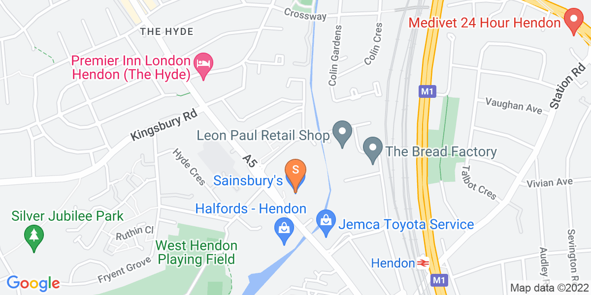 Google Map of Unit 4Hyde Estate Road London NW9 6JX