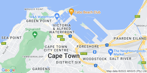 Google Map of Unit+23+Foregate+Square%2C+Table+Bay+Boulevard+%2C+Cape+Town%2C+South+Africa
