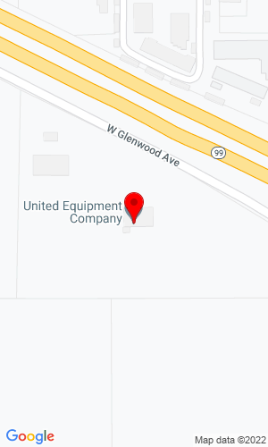 Google Map of United Equipment 600 W. Glenwood, Turlock, CA, 95380