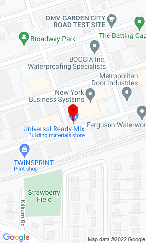 Google Map of Universal Ready Mix 197 Atlantic Avenue, Garden City Park, NY, 11040
