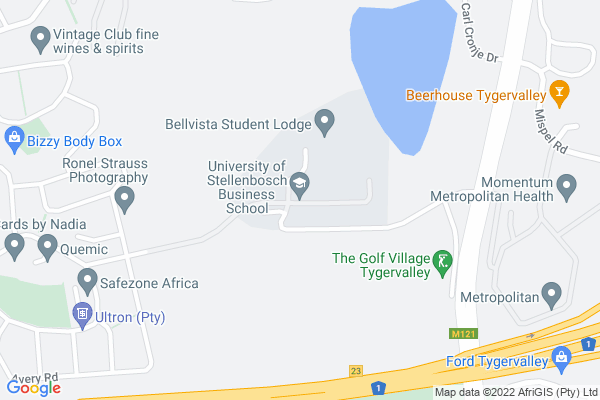 Google Map of University of Stellenbosch Business School