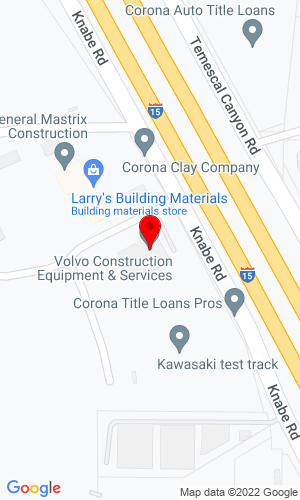 Google Map of VCES Corona 22099 Knabe Road, Corona, CA, 92883