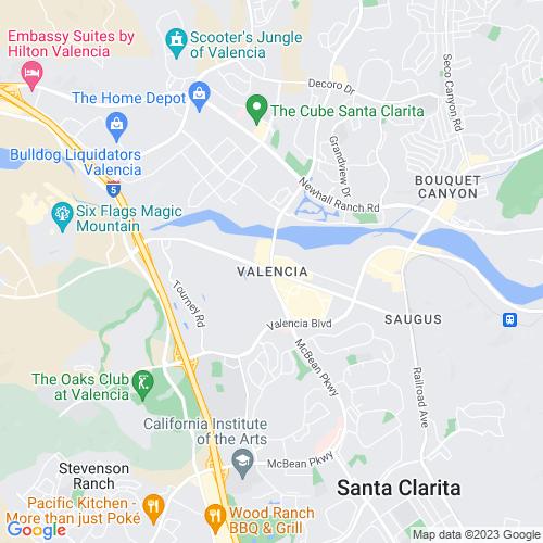 Map of Valencia, CA
