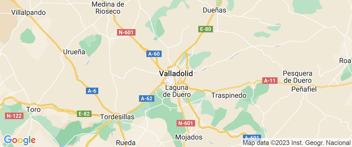 Mapa Valladolid