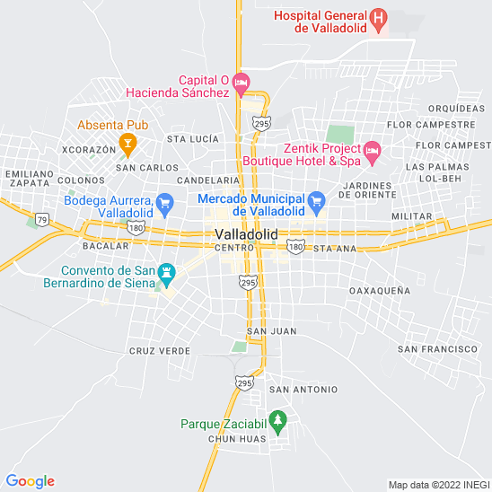 Mapa redondo Valladolid