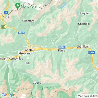cartina Valtournenche