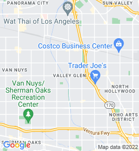Valley Glen CA Map