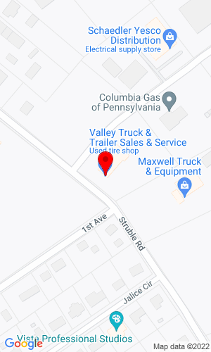 Google Map of Valley Truck and Trailer Sales and Service 409 Strumble Road, State College, PA, 16801,