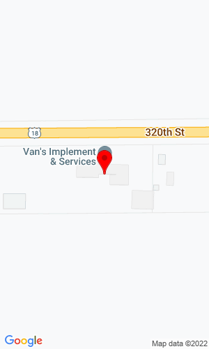 Google Map of Van's Implement 3465 320th Street, Hull, IA, 51239,