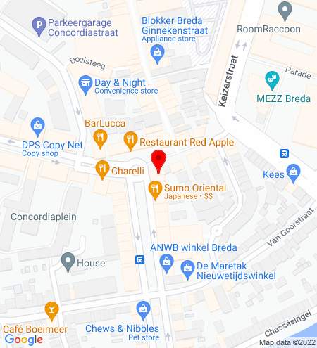Google Map of Van Coothplein 27 4811 NC Breda