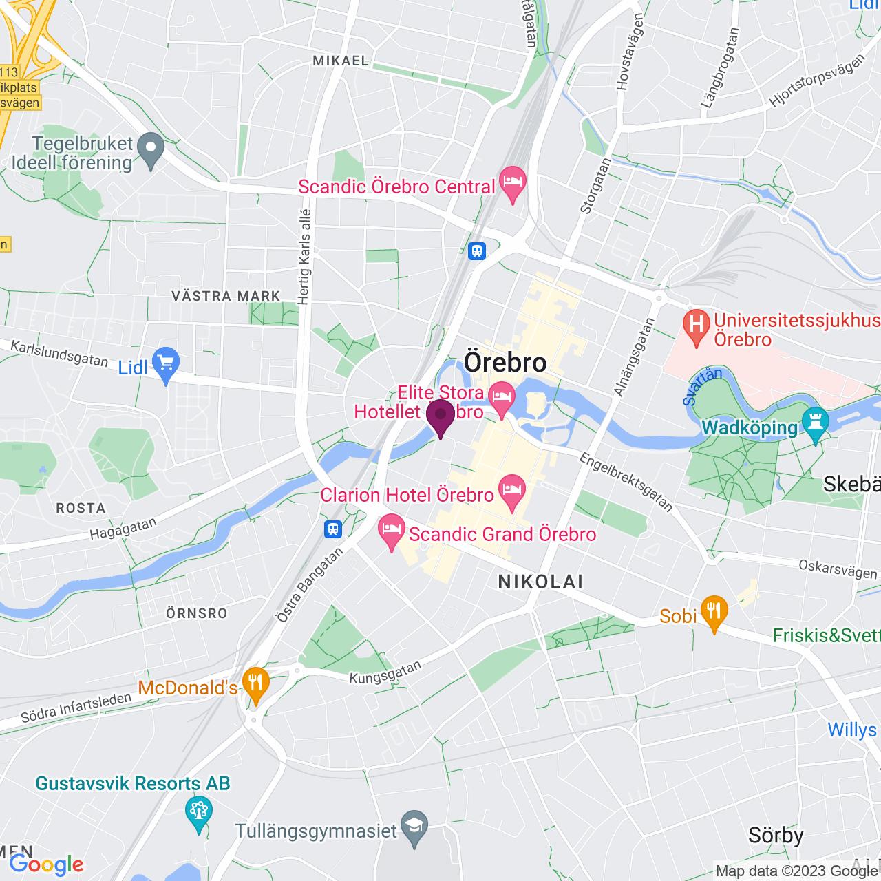 Karta över Vasagatan 10