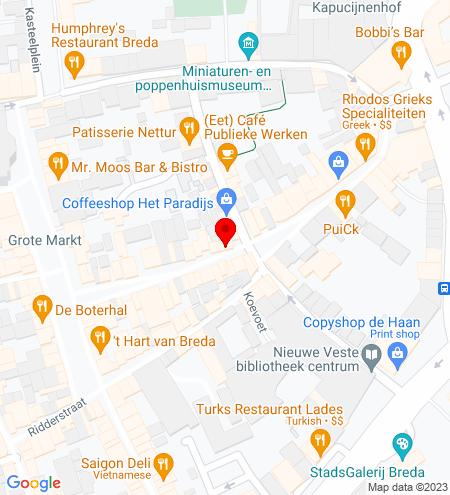 Google Map of Veemarktstraat 27 4811 ZC Breda