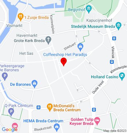 Google Map of Veemarktstraat 2A 4811 ZE Breda