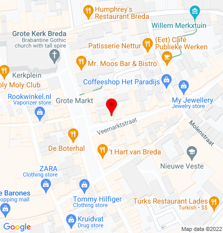 Google Map of Veemarktstraat 5 4811 ZB Breda