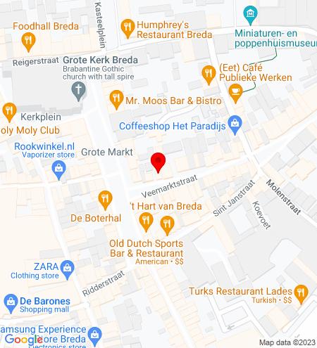 Google Map of Veemarktstraat 5 4811 ZB Breda