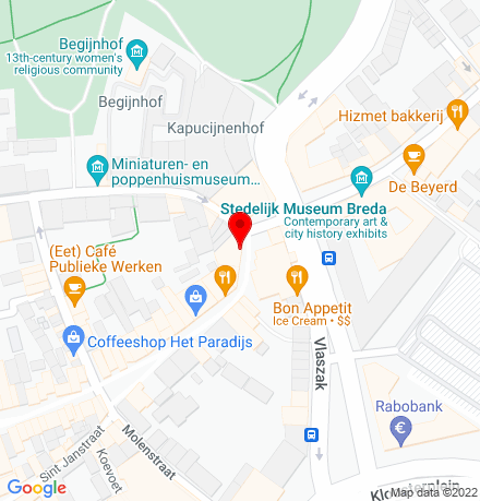 Google Map of Veemarktstraat 69 4811 ZD Breda