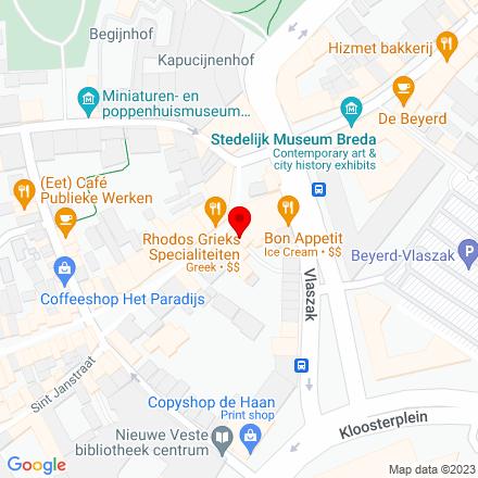 Google Map of Veemarktstraat 72 4811 ZJ Breda