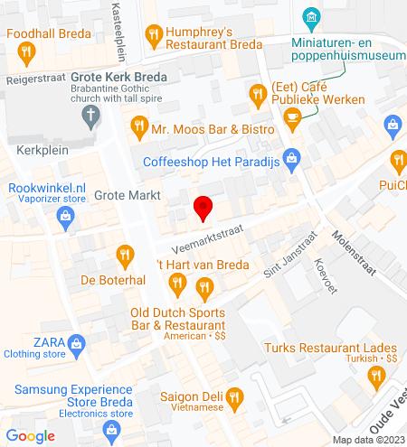 Google Map of Veemarktstraat 9 4811 ZB Breda