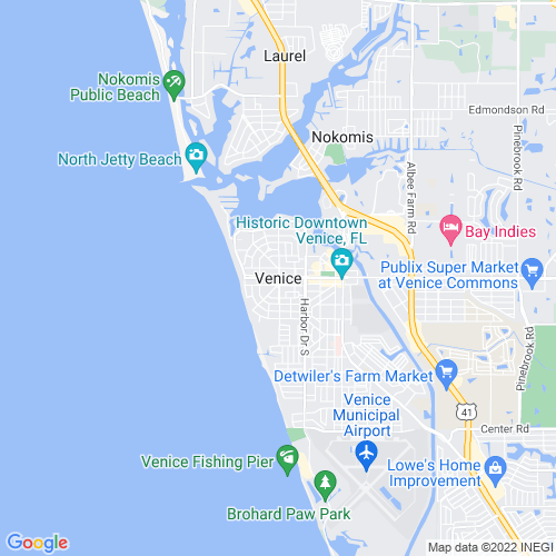 Map of Venice, FL