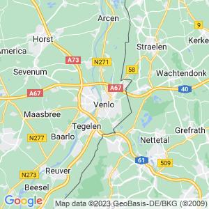 Werkgebied van onze bestrijder in Venlo