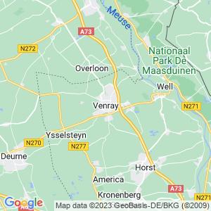 Werkgebied van onze bestrijder in Venray