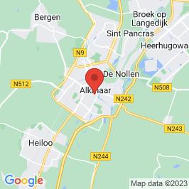 Google map of Kerkencluster Alkmaar - St. Laurentius, Alkmaar