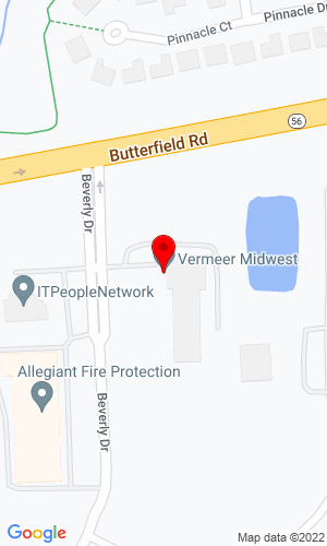 Google Map of Vermeer Illinois 2801 Beverly Drive, Aurora, IL, 60504