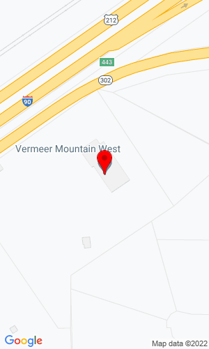 Google Map of Vermeer Rocky Mountain 7710 S. Frontage Rd, Billings, MT, 59101,