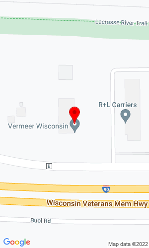 Google Map of Vermeer Wisconsin Inc. W3090 County B, Barron, WI , 54812