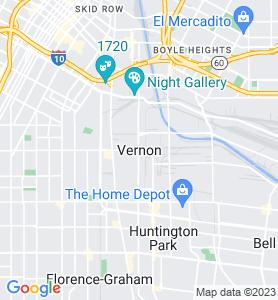 Vernon CA Map
