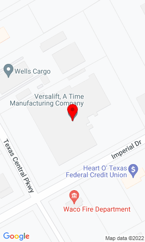 Google Map of Versalift Southwest 7601 Imperial Drive, Waco, TX, 76702