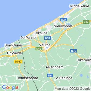 Werkgebied van onze bestrijder in Veurne