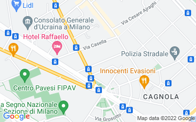 Map of Via Marcantonio dal Re, 24, Milano, MI, Italia