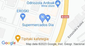 Urola Kosta estrukturak muntaketak S.L. mapa