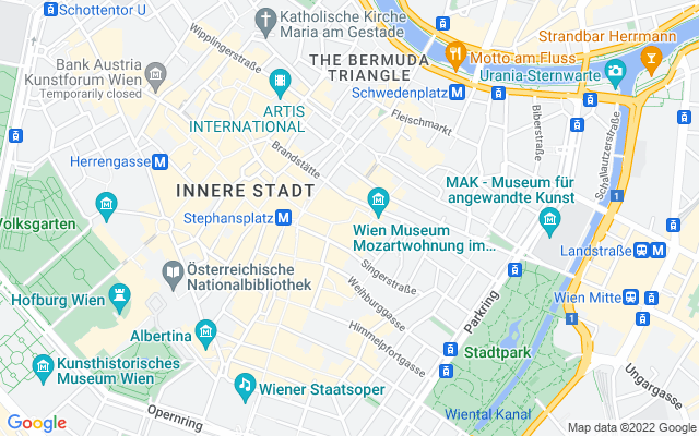 Show map of Vienna