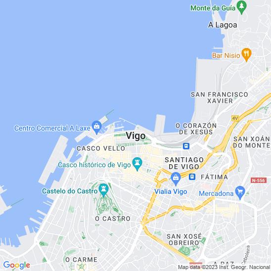 Mapa redondo Vigo