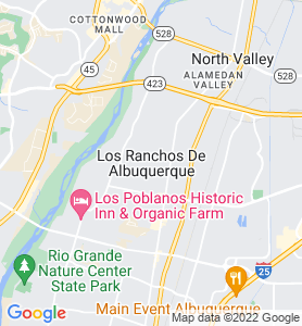 Village Of Los Ranchos NM Map