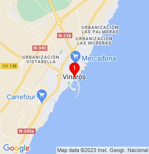 Google Map of Vinaros, Castellon, Spain