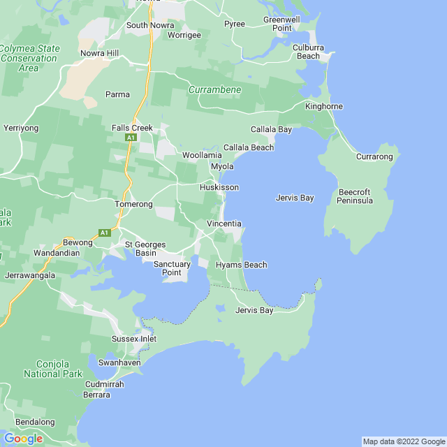 Map: Jervis Bay Area