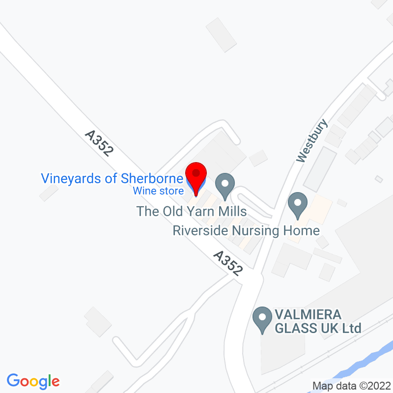 Google Map of Vineyards, Digby Road, Sherborne