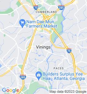 Vinings GA Map