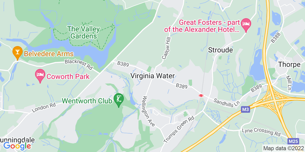 Map: Deputy Manager - Supported Living role in Virginia Water