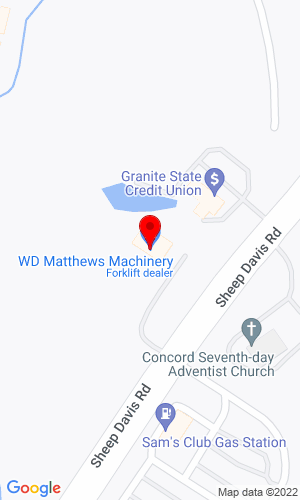 Google Map of W D Matthews Machinery Company 309 Sheep Davis Road , Concord, NH, 03301