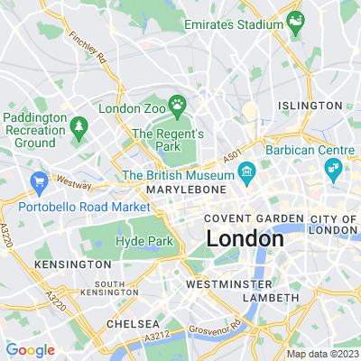 Paddington Street Gardens North and South Location