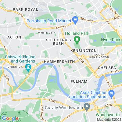 Hammersmith Flyover Location