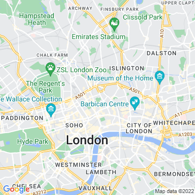 St George's Gardens, Bloomsbury Location