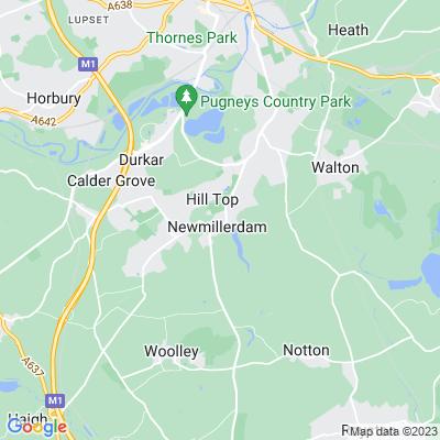 Chevet Park and Newmillerdam, Wakefield Location
