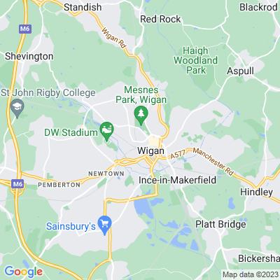 Wigan Hall Location